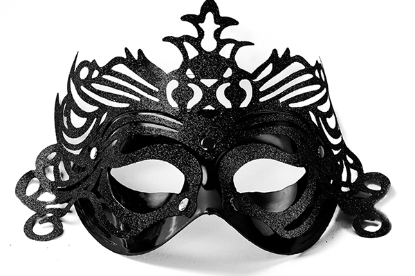 "Party Mask - black ""ornament"""
