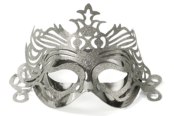 "Party Mask - silver ""ornament"""