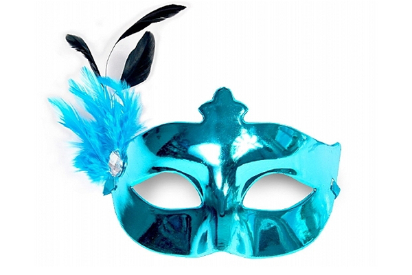"Party Mask - turquoise ""feather"""