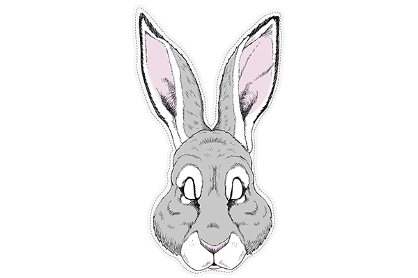 """PAPER MASK """"hare"""""""