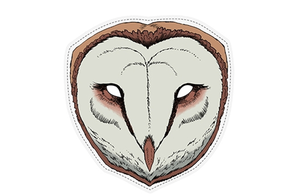 "PAPER MASK ""barn owl"""