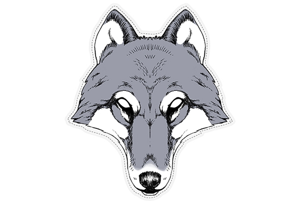 """PAPER MASK """"wolf"""""""