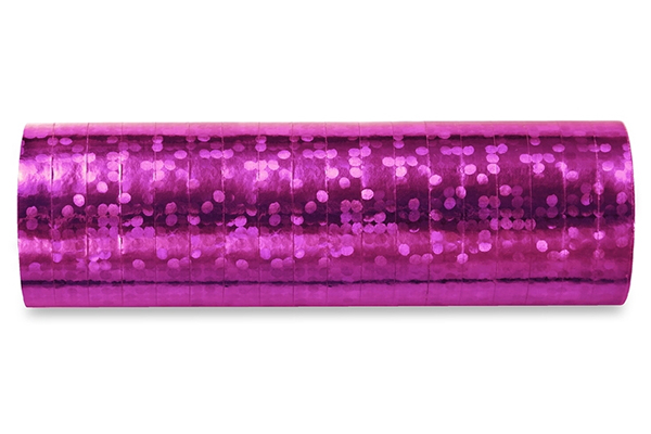 Holographic streamer - rosa