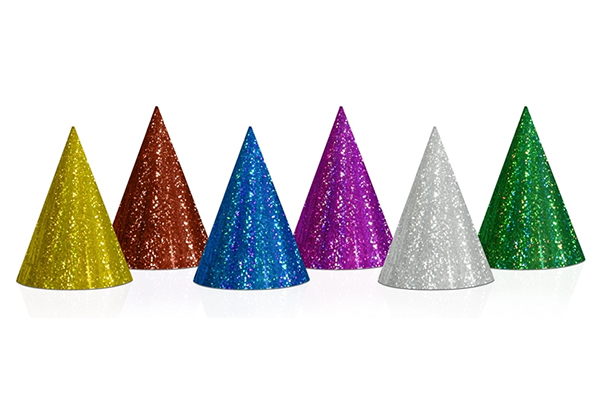 HOLOGRAPHIC PARTY HATS - 20 pcs