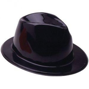 CAPPELLO Al Capone PLASTICA - NERO