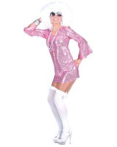 """VESTITO DONNA """"DISCO DRESS"""" ROSA"""