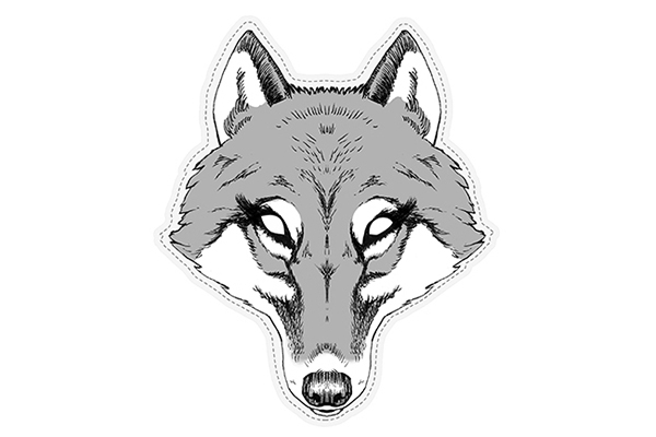 "PAPER MASK ""she wolf"""
