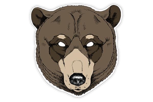 "PAPER MASK ""bear"""