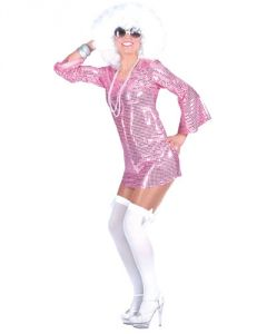 "VESTITO DONNA ""DISCO DRESS"" ROSA"