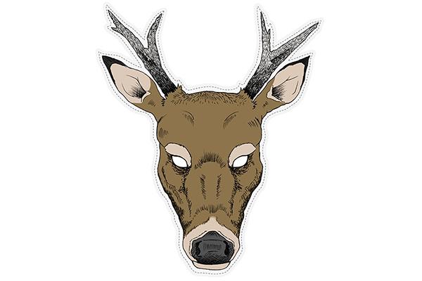 "PAPER MASK ""deer"""