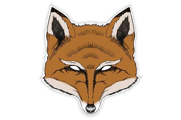 "PAPER MASK ""fox"""