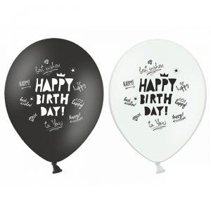 6 PALLONCINI HAPPY BIRTHDAY - 30 cm