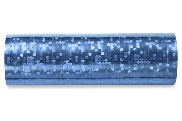 Holographic streamer - sky blue