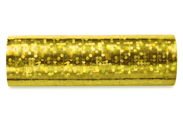 Holographic streamer - gold