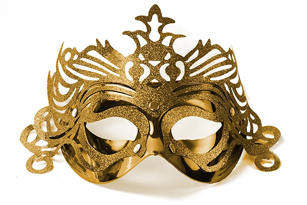 """Party Mask - gold """"ornament"""""""