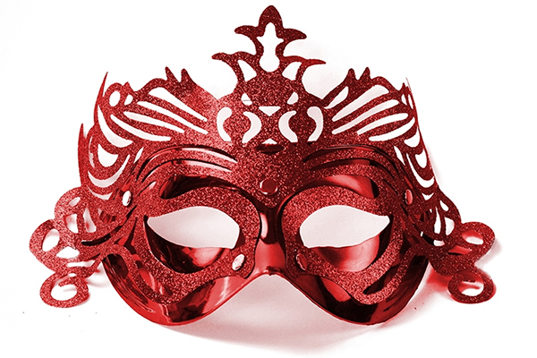 "Party Mask - red ""ornament"""