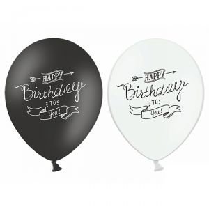 6 PALLONCINI HAPPY BIRTHDAY - 30 cm
