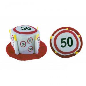 CAPPELLO TORTA 50 ANNI - TRAFFIC SIGN