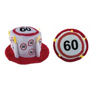 CAPPELLO TORTA 60 ANNI - TRAFFIC SIGN