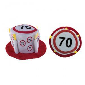 CAPPELLO TORTA 70 ANNI - TRAFFIC SIGN