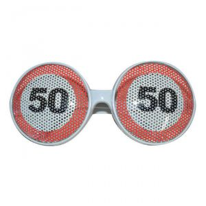 OCCHIALI  50 ANNI - TRAFFIC SIGN