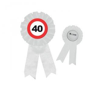 COCCARDA 40 ANNI - TRAFFIC SIGN
