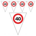 FESTONE BANDIERINE 40 ANNI - TRAFFIC SIGN