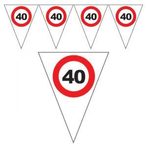 FESTONE BANDIERINE 40 ANNI - TRAFFIC SIGN