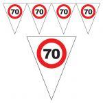 FESTONE BANDIERINE 70 ANNI - TRAFFIC SIGN