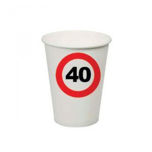 BICCHIERI 40 ANNI - TRAFFIC SIGN
