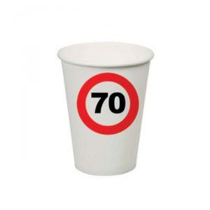 BICCHIERI 70 ANNI - TRAFFIC SIGN