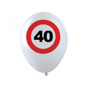 PALLONCINI 40 ANNI - TRAFFIC SIGN
