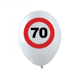 PALLONCINI 70 ANNI - TRAFFIC SIGN
