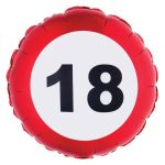 PALLONCINO 18 ANNI - FOIL EXTRA - TRAFFIC SIGN