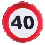 PALLONCINO 40 ANNI - FOIL EXTRA - TRAFFIC SIGN