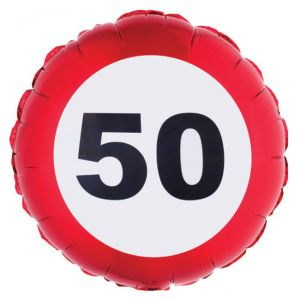 PALLONCINO 50 ANNI - FOIL EXTRA - TRAFFIC SIGN