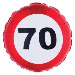 PALLONCINO 70 ANNI - FOIL EXTRA - TRAFFIC SIGN