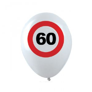 PALLONCINI 60 ANNI - TRAFFIC SIGN