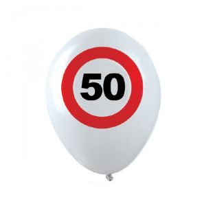 PALLONCINI 50 ANNI - TRAFFIC SIGN