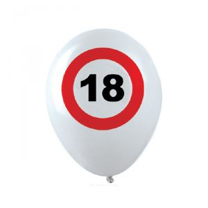 PALLONCINI 18 ANNI - TRAFFIC SIGN