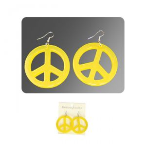 ORECCHINI PEACE - GIALLI