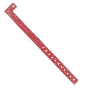 Braccialetto monouso - RED GLITTER