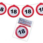 FESTONE GHIRLANDE 18 ANNI - TRAFFIC SIGN