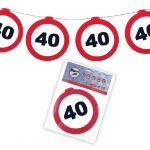 FESTONE GHIRLANDE 40 ANNI - TRAFFIC SIGN