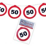 FESTONE GHIRLANDE 50 ANNI - TRAFFIC SIGN