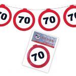 FESTONE GHIRLANDE 70 ANNI - TRAFFIC SIGN