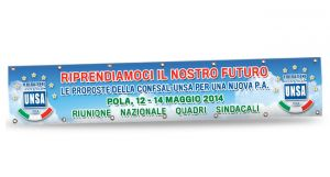 STRISCIONE SUPER ECO 310 GR. - 6x1 Mt.