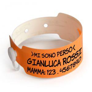 BRACCIALETTO ANTISMARRIMENTO PER BAMBINI - NEON ARANCIO - 14280