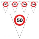 FESTONE BANDIERINE 50 ANNI - TRAFFIC SIGN