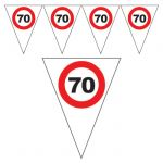 FESTONE BANDIERINE 70 ANNI - TRAFFIC SIGN